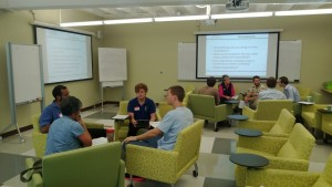 Participants discussing approaches to virtual consulting