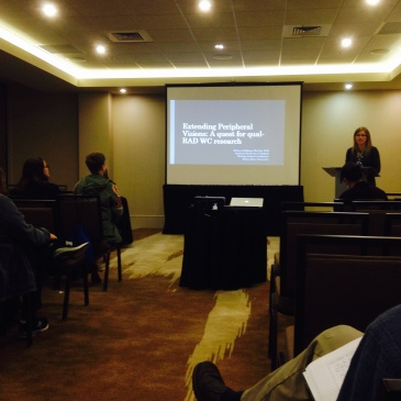 "Rebecca Hallman, ""Extending Peripheral Visions: A Quest for Qual-RAD WC Research"""